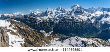 Shilthorn, alps panorama view #1144648601