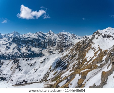 Shilthorn, alps panorama view #1144648604