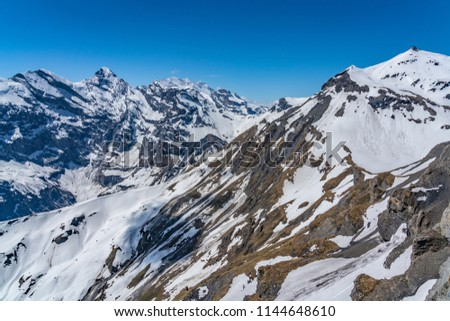 Shilthorn, alps panorama view #1144648610
