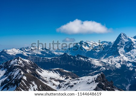 Shilthorn, alps panorama view #1144648619