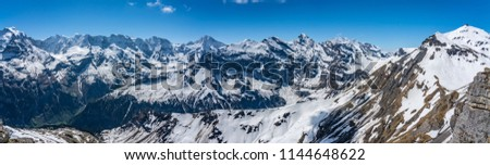 Shilthorn, alps panorama view #1144648622