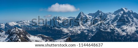 Shilthorn, alps panorama view #1144648637