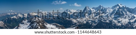 Shilthorn, alps panorama view #1144648643