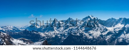 Shilthorn, alps panorama view #1144648676