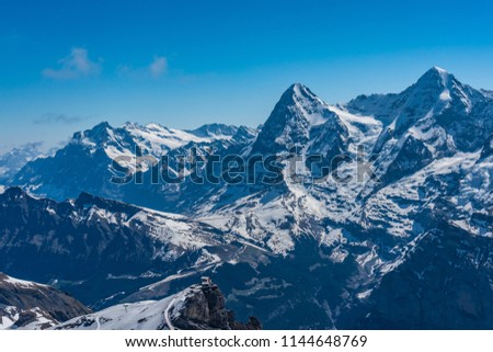 Shilthorn, alps panorama view