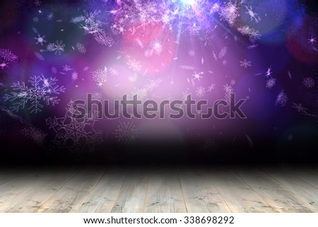 Shimmering light design over boards with copy space #338698292