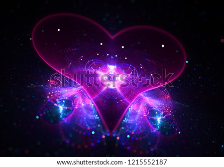 Shine Agape Love Heart  - Soul of Universe  - Divine Grace   Сток-фото ©
