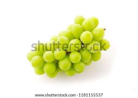 Shine Muscat. Japanese grapes. #1181155537
