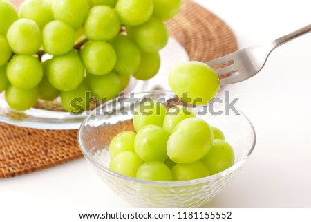 Shine Muscat. Japanese grapes. #1181155552