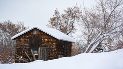Shingle Shack in The Snow