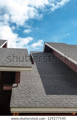 shingles roof, contemporary style