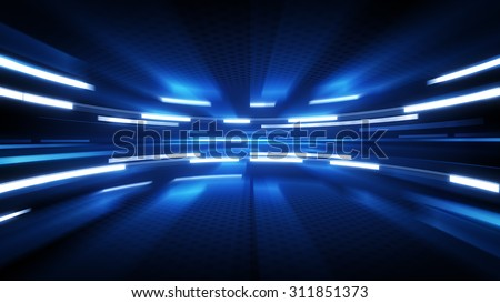 shining blue glow. computer generated abstract technology background Stock fotó ©