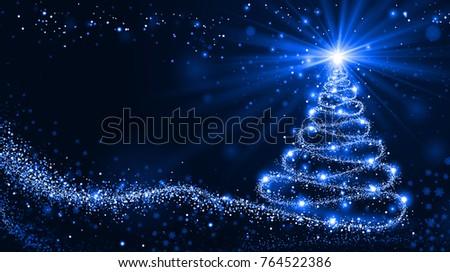 Shutterstock Shining Christmas tree