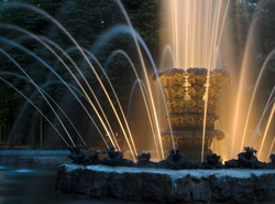 Shining Fountain in park