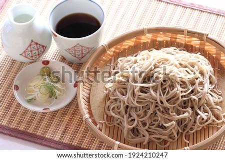 Shinshu soba (Japanese buckwheat noodles) Stock fotó ©