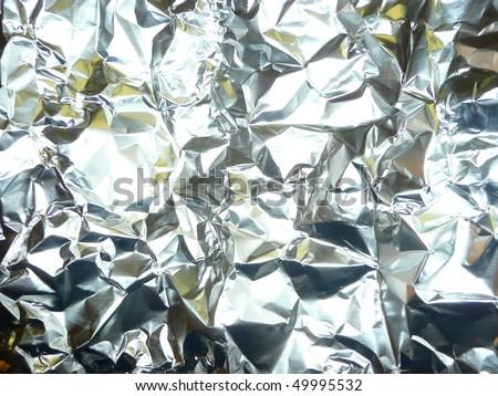 Shiny aluminum foil texture background