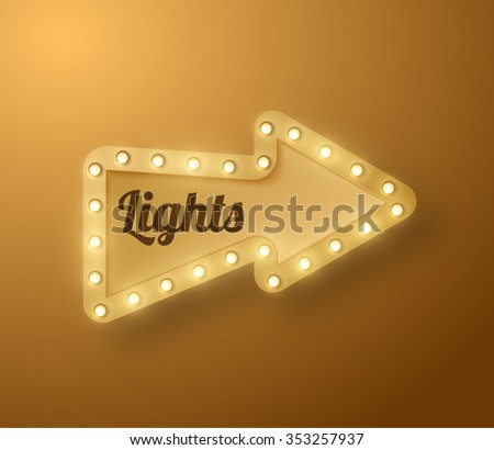 Shiny arrow retro banner vector background. Vector eps10. #353257937