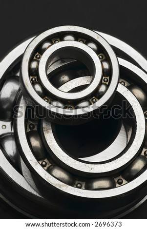 shiny ball bearings - small and large ones