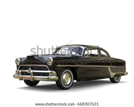 shiny black restored vintage...