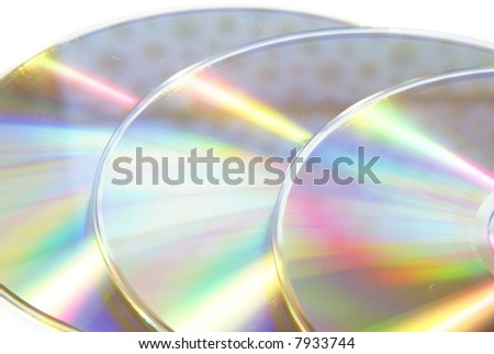 Shiny CD abstract border or background on white