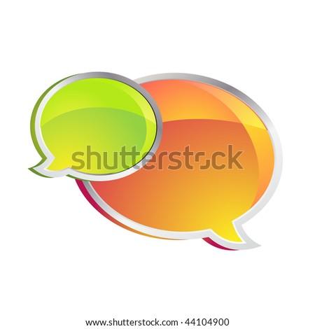 Shiny Chat Boxes - stock photo