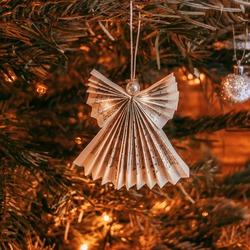 shiny Christmas angel fir christmastree