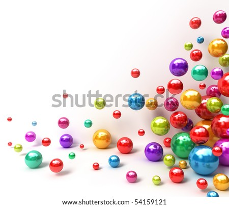 Shiny colorful balls. Abstract background