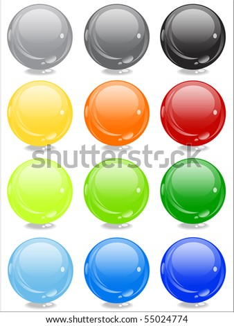 shiny cool color sphere - stock photo