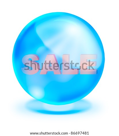 Shiny crystal with sale inside for promotion - stock photo