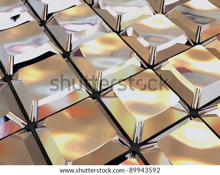 shiny 3d metallic background with computer keyboard buttons