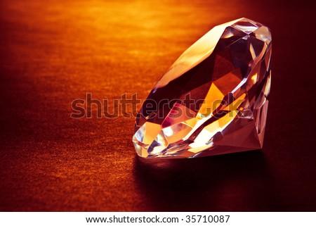 shiny diamond in warm light
