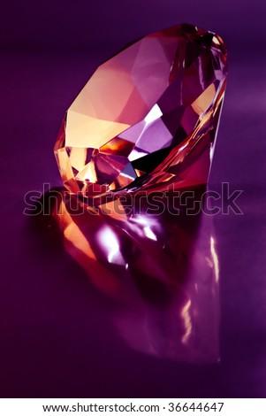 shiny diamond on purple light
