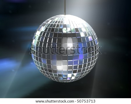 shiny disco-ball background - stock photo