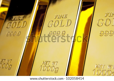 Shiny Gold bars photo