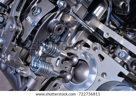 Shiny High Tech Automobile Engine