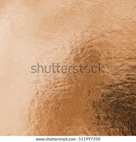 Shiny hot red copper brass bronze color decorative texture paper: Bright brilliant festive glossy metallic look textured empty wallpaper backdrop: Aluminium tin metal material craft design decoration #511997350