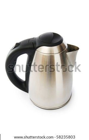 Shiny kettle isolated on the white background