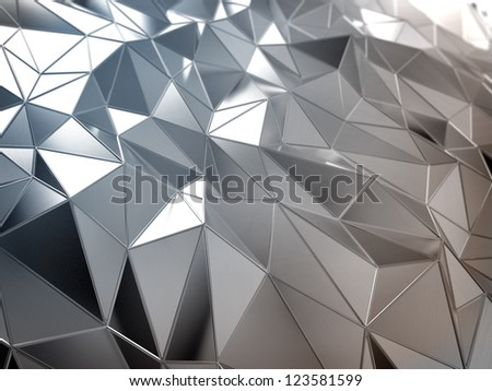 Shiny metal abstract surface - industrial background