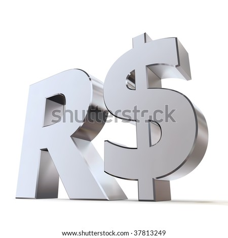shiny metal Real sign - silver/chrome style - low camera angle