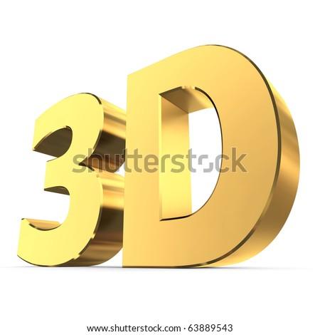 shiny metallic 3d word 3D made of gold