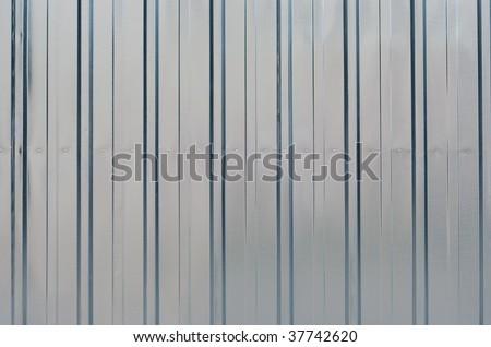 Shiny new zinc garage wall