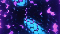 Shiny Purple and Blue polygon dark and creative in Ultra Hd background and texture