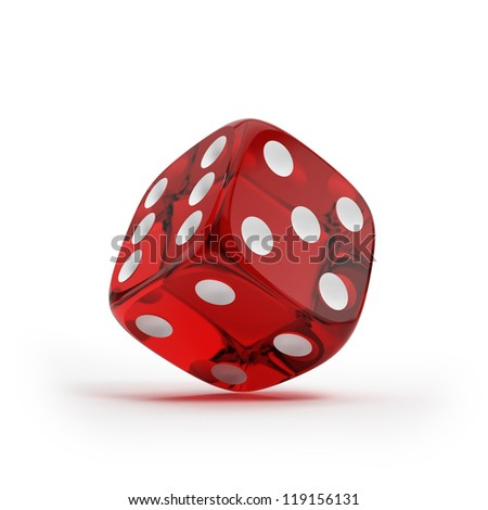 Shiny red dice