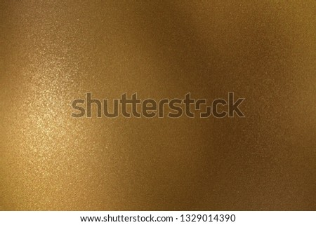 Shiny rough bronze metal wall, abstract texture background #1329014390
