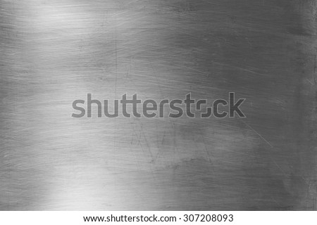 Shiny silver metal surface