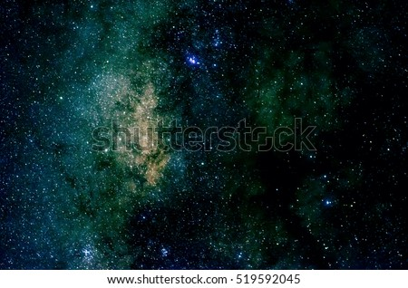 Shiny stars and galaxy space sky night background, Africa