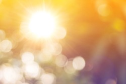 Shiny sunburst sunbeams.