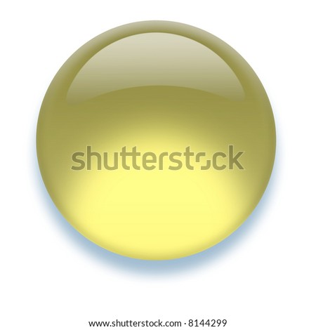Shiny transparent high-resolution Aqua button with shadow, isolated on white