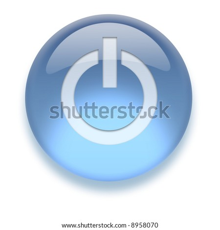 Shiny transparent high-resolution Aqua Icon with shadow, isolated on white. Icon color can be easily changed with Hue/Saturation
