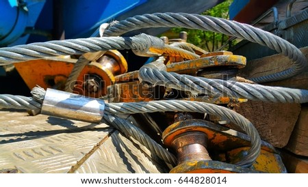 Shiny wire rope. #644828014